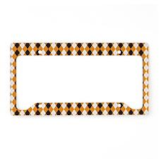 Halloween Cute Pattern Orange License Plate Holder