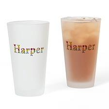 Harper Bright Flowers Drinking Glass