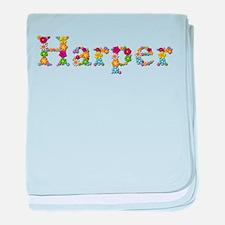 Harper Bright Flowers baby blanket