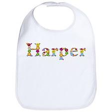 Harper Bright Flowers Bib