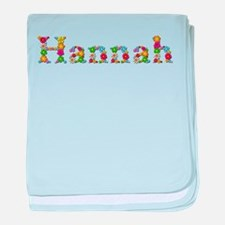 Hannah Bright Flowers baby blanket
