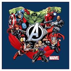 Avengers Group Wall Art Poster