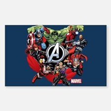 Avengers Group Sticker (Rectangle)