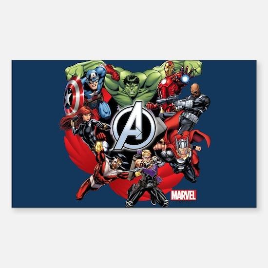 Avengers Group Sticker (Rectangle)