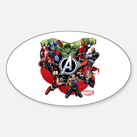 Avengers Group Sticker (Oval)