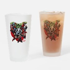 Avengers Group Drinking Glass