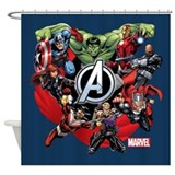 The avengers Shower Curtains