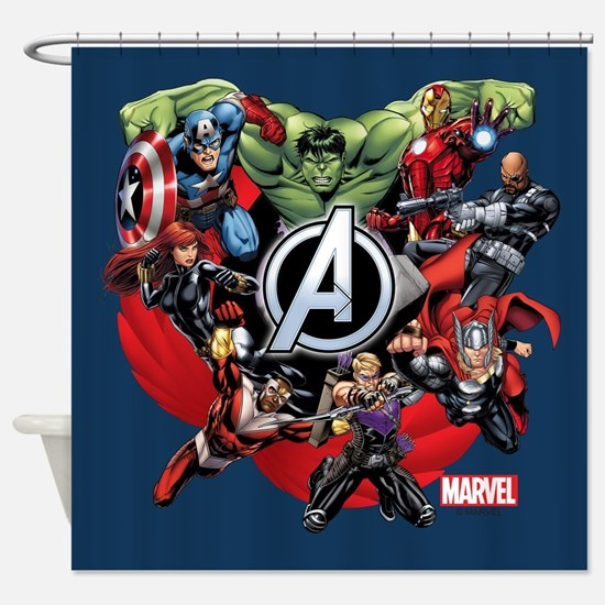 Avengers Group Shower Curtain