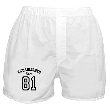Established Since 1981 Boxer Shorts