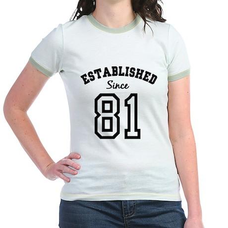 Established Since 1981 Jr. Ringer T-Shirt