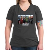 Marvel Womens V-Neck T-shirts (Dark)