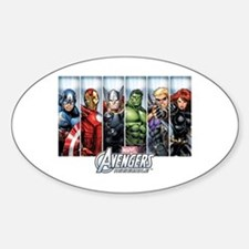 Avengers Assemble Sticker (Oval)