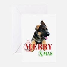 GSD Pup XMas Greeting Cards (Pk of 10)