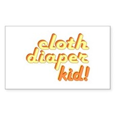Cloth Diaper Kid Rectangle Decal