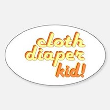 Cloth Diaper Kid Oval Decal