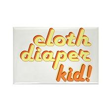 Cloth Diaper Kid Rectangle Magnet