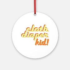Cloth Diaper Kid Ornament (Round)