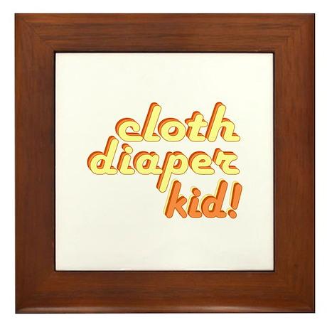 Cloth Diaper Kid Framed Tile