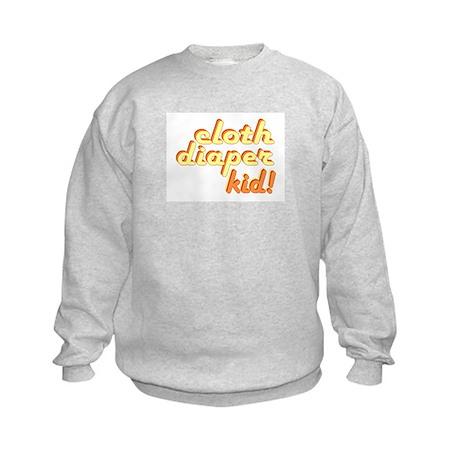 Cloth Diaper Kid Kids Sweatshirt