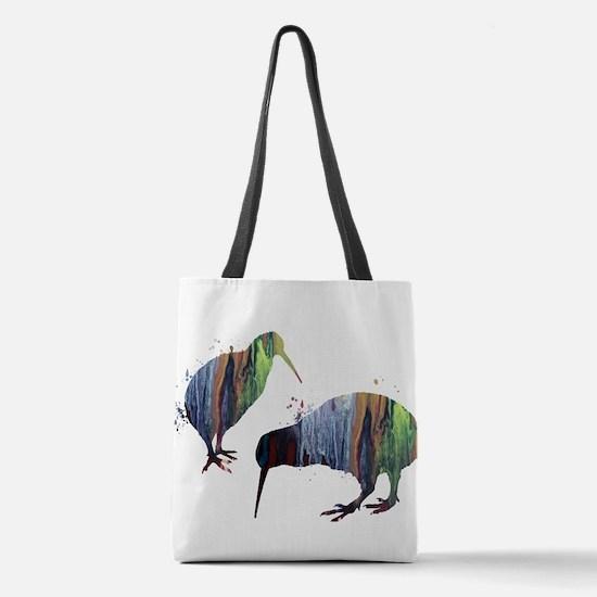Kiwi birds Polyester Tote Bag