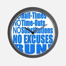 No Half Times, Time Outs, Subs Running Wall Clock