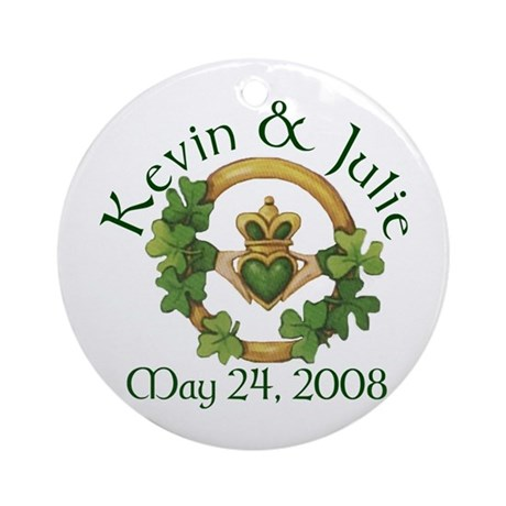 Kevin & Julie Ornament (Round)