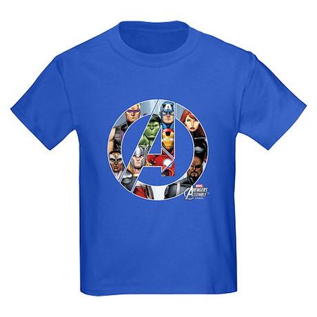 Avengers Assemble Kids Dark T-Shirt