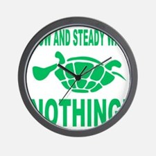 Slow and Steady Wins Nothing Running Wall Clock