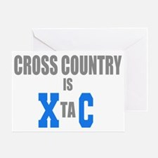 Cross Country Running Extasy Ecstacy Greeting Card