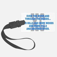 Over the River Cross Country Quo Luggage Tag