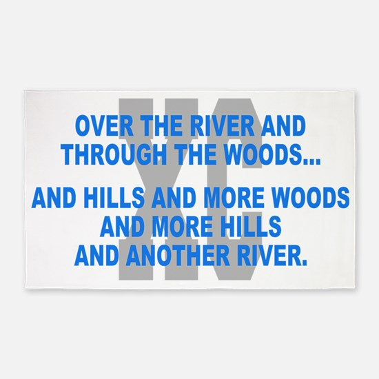 Over the River Cross Country Quote 3'x5' Area Rug