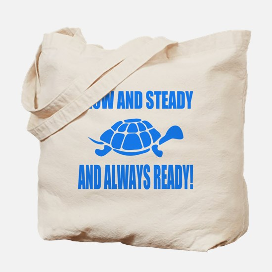 Slow and Steady Always Ready Running Tote Bag