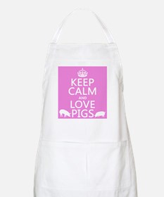 Keep Calm and Love Pigs Apron