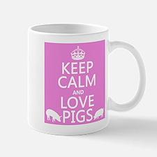 Keep Calm and Love Pigs Mugs