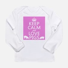 Keep Calm and Love Pigs Long Sleeve T-Shirt