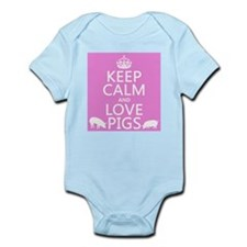 Keep Calm and Love Pigs Body Suit