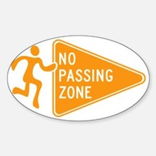 No Passing Zone Sign Running Decal