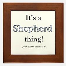 Shepherd Thing Framed Tile