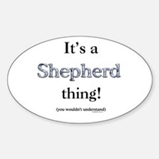 Shepherd Thing Oval Decal