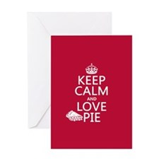 Keep Calm and Love Pie Greeting Cards