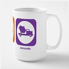 Eat Sleep Concrete Large Mug