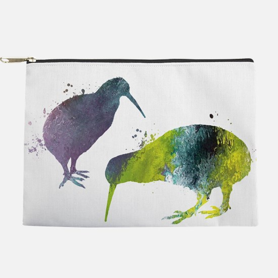 Kiwi birds Makeup Pouch