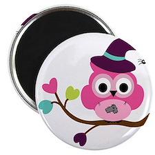 Cute Halloween Owl Magnet