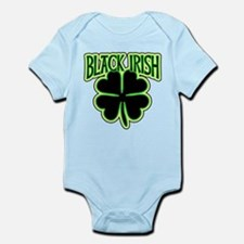 Black Irish with Huge Shamrock Onesie