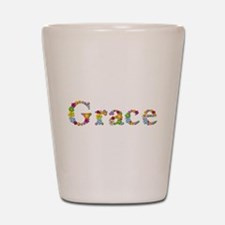 Grace Bright Flowers Shot Glass