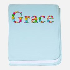 Grace Bright Flowers baby blanket