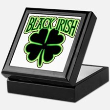 Black Irish with Huge Shamrock Keepsake Box