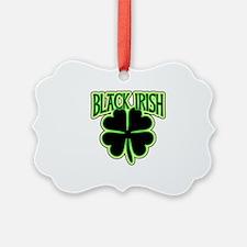 Black Irish with Huge Shamrock Ornament