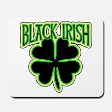 Black Irish with Huge Shamrock Mousepad