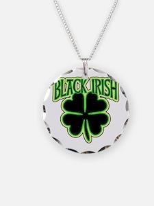 Black Irish with Huge Shamrock Necklace